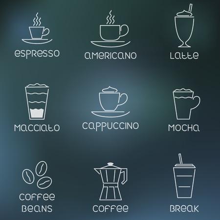 coffee: Coffee pictogram on rainy flare background