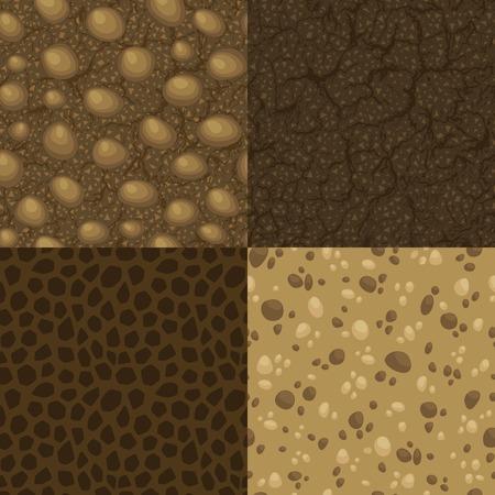 ベクトル内の地面のシームレス パターンのセット  イラスト・ベクター素材
