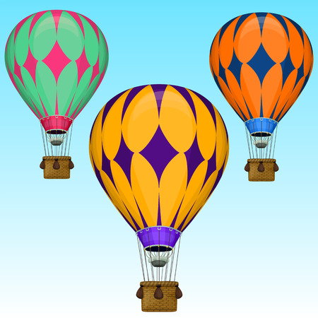 ballooning: Vector cartoon air balloons