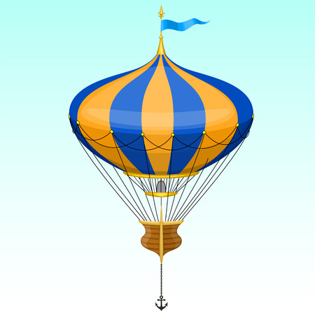 ballooning: Vector cartoon air balloon