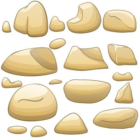 Vector cartoon stones set