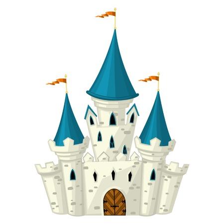 fairytale castle: Vector cartoon fairytale castle