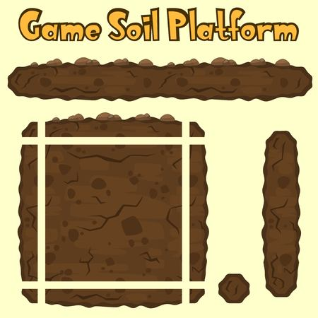 soil texture: Vector soil platform texture for games