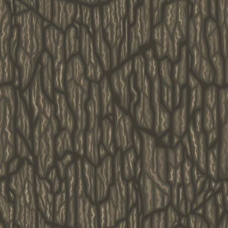 Seamless cartoon tree bark texture. Tileable vector illustration.