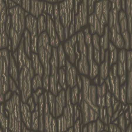 tree bark: Seamless cartoon tree bark texture. Tileable vector illustration.