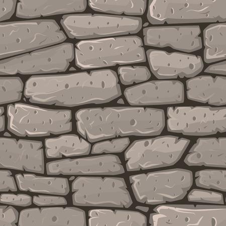 Naadloze cartoon steen textuur. Vector illustratie. Vector Illustratie