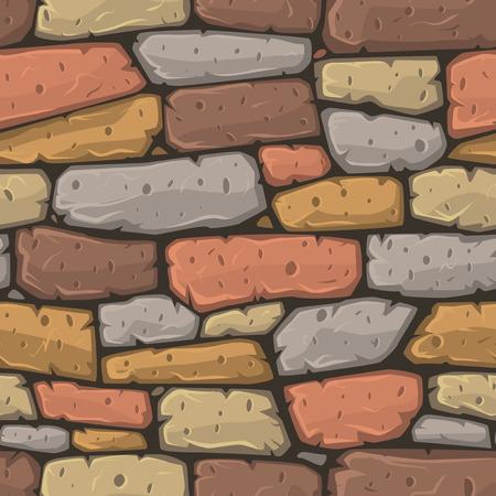 Seamless cartoon stone texture. Vector illustration.