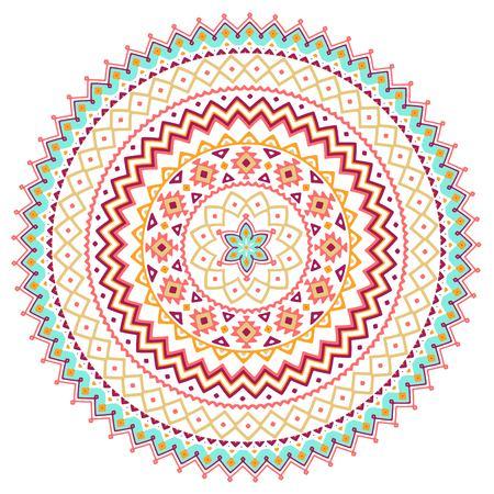 Vector De Fondo Con Mandala Arabe Bohemio Orientales Indios - Mandalas-indios