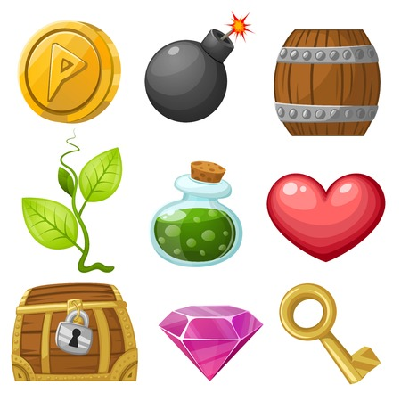 barrel bomb: Stock Vector Illustration: Resource icons for games. Vector illustration. Pick up items set 1.
