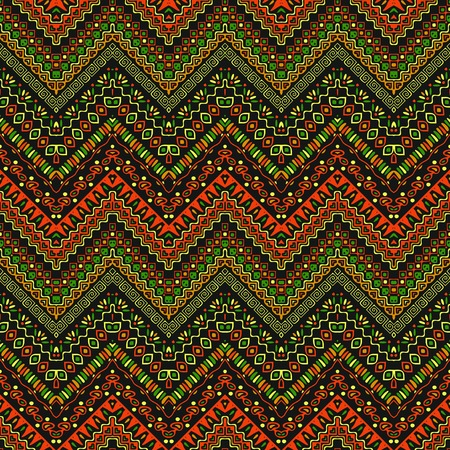 primeval: Vector african style chevron pattern with tribal motifs. Natural and elegant ornament with geometric hand drawn decorative stripes for prints, fabrics, backgrounds