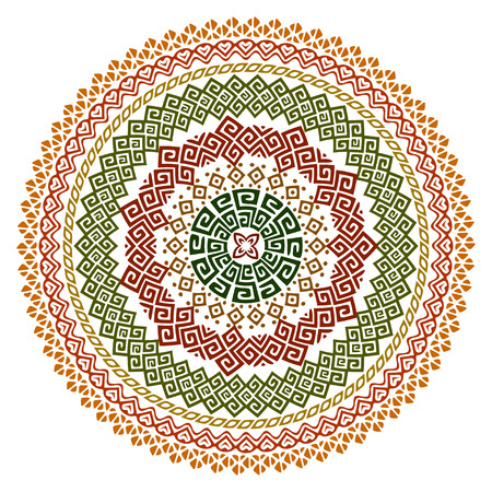 bohemian: Vector mandala background with bohemian, Oriental, Indian, Arabic, African motifs.