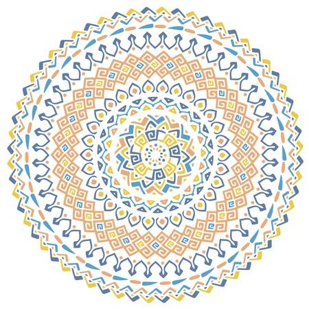 Vector mandala background with bohemian, Oriental, Indian, Arabic, African motifs.