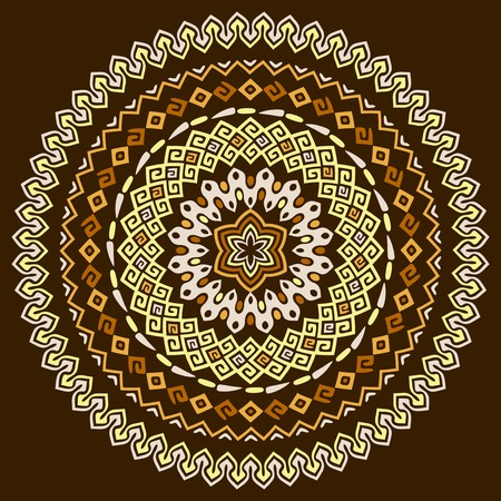 Vector mandala background with bohemian, Oriental, Indian, Arabic, African motifs.