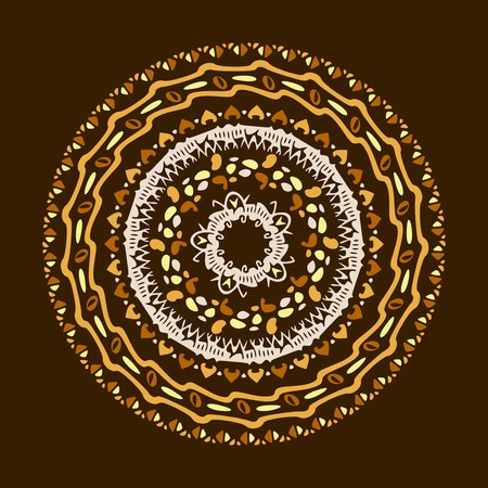 motifs: Vector mandala background with bohemian, Oriental, Indian, Arabic, African motifs.