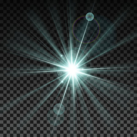 Lighting spark. Vector Illustration.