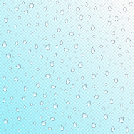 Vector waterdrops on transparent background