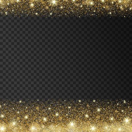 radiance: Golden sparkles drop background. Vector illustration Illustration
