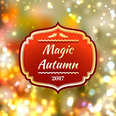 autumn background: Bright blurred autumnal background