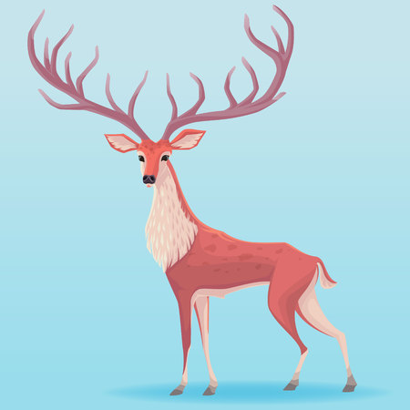Vector deer illustration Illustration