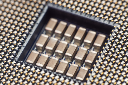 Built by the processor on the motherboard close-up