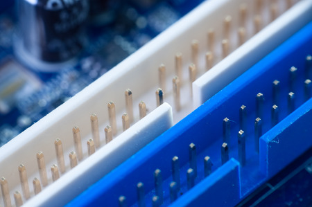 electronic board: Modern electronic board . Motherboard close-up . Stock Photo