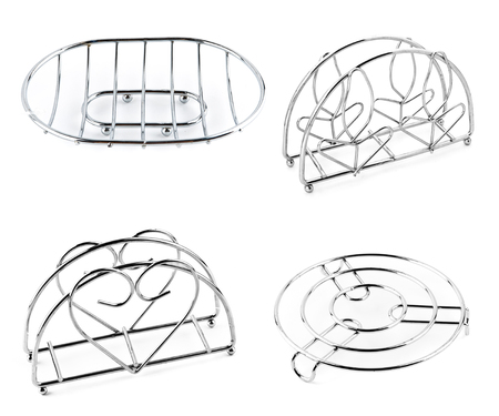 trivet: Stand under a hot and napkin for kitchen chrome.