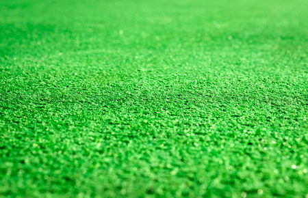 Close up of artificial green grass . Stock Photo