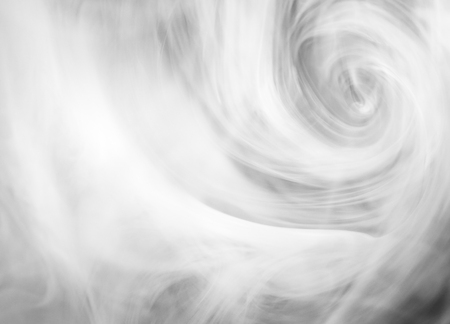 wreathe: Abstract white smoke on black background . Stock Photo