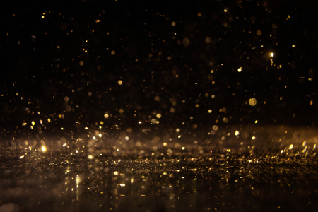 Abstract of christmas and bokeh light with glitter background .
