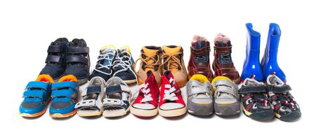 Children's shoes for different weather and time of year . Standard-Bild
