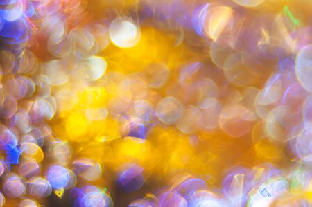 Abstract colored background with circular bokeh .