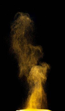 colorful fountain fireworks stream into dark night . Standard-Bild