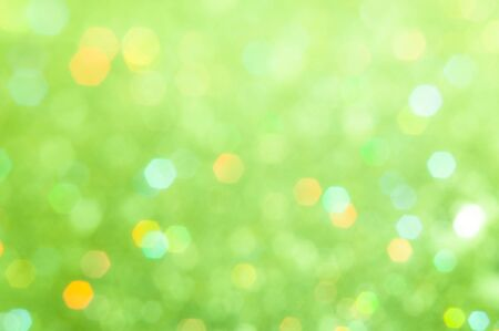 Abstract nature green bokeh background .