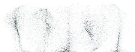 Black and white abstract powder explosion background .