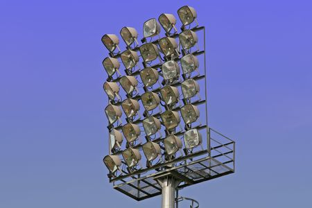 Light tower at a football stadium photo