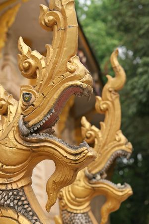The Mythical Naga, seven-headed King of Serpents photo