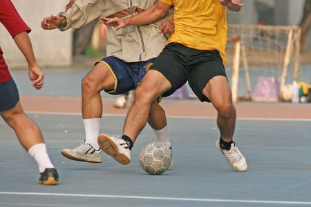 footwork: Game of street soccer (futball)