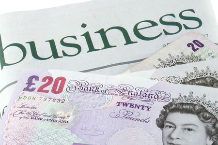 broadsheet: Business section of a newspaper and British pounds sterling
