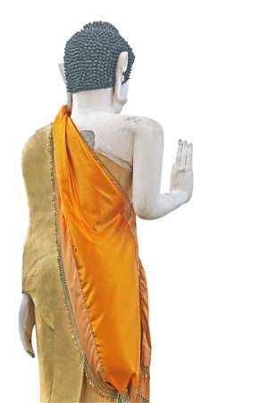 signifies: Buddhist statue in the vitarka mudra position. The gesture signifies an appeal for peace Stock Photo