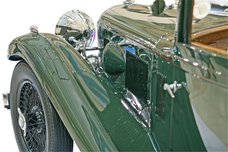 front end: The front end of an old classic car