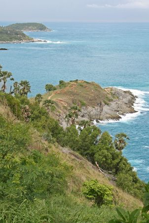 thep: Phrom Thep Cape is a dramatic headland on the island of Phuket in Thailand