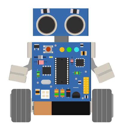 Cute and funny homemade DIY robot