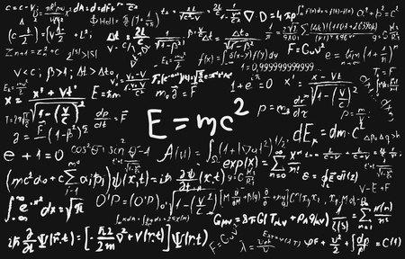 科学的な数式や物理学と数学の計...