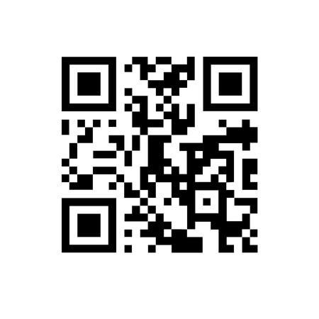 QR code on white isolated background. Illustration