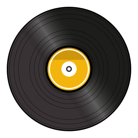 Vinyl record. Isolated on white background.