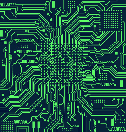 High tech electronic circuit board vector background