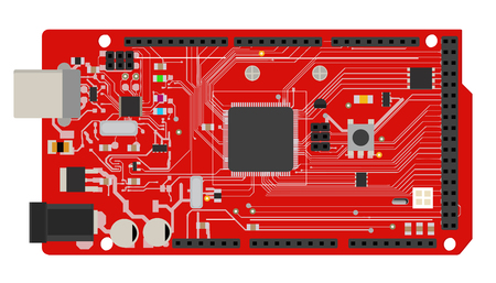 DIY electronic mega board vector illustration