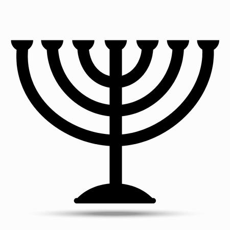Menorah symbol of Judaism. Illustration