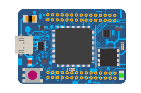 DIY electronic board vector illustration Reklamní fotografie - 98027536