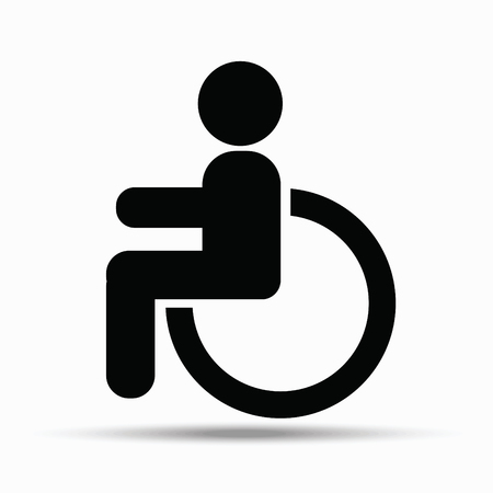 Disability sign on white background